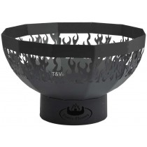 Esschert Design Fire bowl with flames laser cut | Trends & Vision