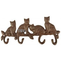 Esschert Design Cast iron cat tail hooks | Trends & Vision