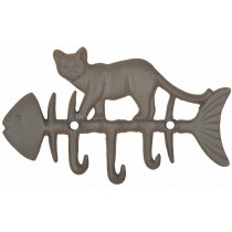 Esschert Design Cat on fish hook | Trends & Vision