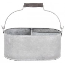 Esschert Design Tray/chest with 3 compartments small - Old zinc | Trends & Vision