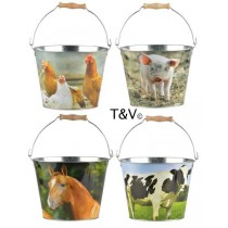 Esschert Design Bucket farm animals choice. S | Trends & Vision