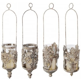 Aged Metal Hanging lantern 4 styles assorted