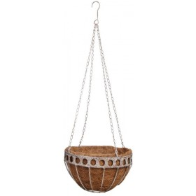 Aged Metal hanging basket small