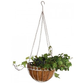 Aged Metal hanging basket large