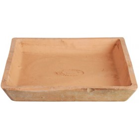 Aged Terracotta saucer square