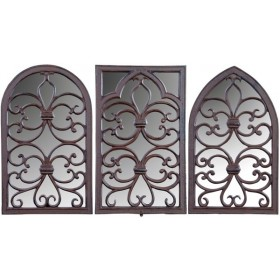 Cast iron Windowframe with mirror