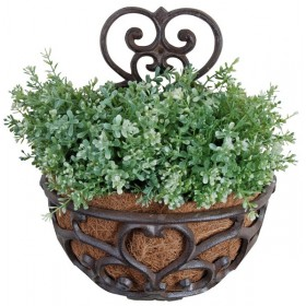 Half round classic wall planter with coconut liner