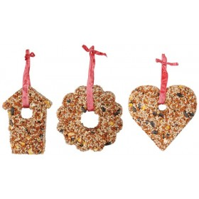 Compressed seed heart/bird house/wreath 10cm