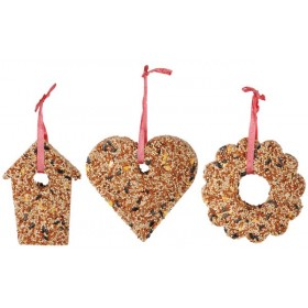 Compressed seed heart/bird house/wreath 15cm