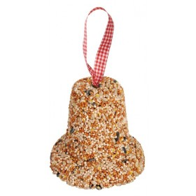 Bird seed feeding bell hanging