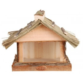 Thatched roof wall birdtable