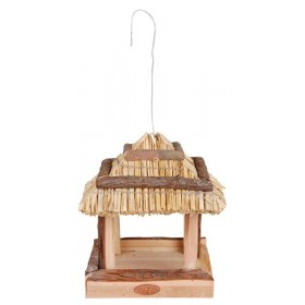 Thatched roof birdtable