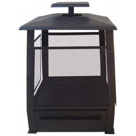 Pagoda style fire place with wire