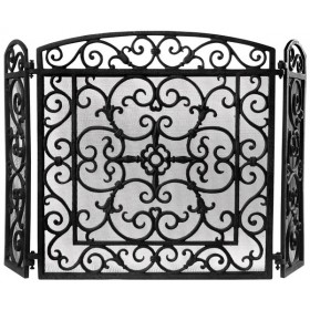 Fire place screen black