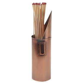 Match holder in copper