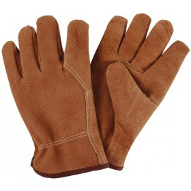Pig grain leather garden gloves