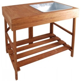 Hardwood potting table