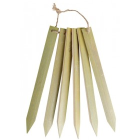Bamboo plant labels large set of 6