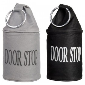Doorstop with ring black or grey assorted