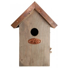 Antique wash bird house wren copper roof