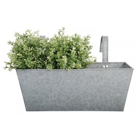 Rectangular balcony flower pot old zinc