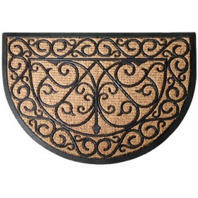 Rubber doormat with cocos halfround
