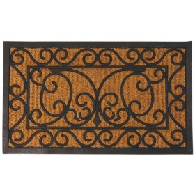 Rubber doormat with cocos rect.