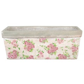 Rectangular balcony planter rose print