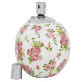Oil lamp rose print