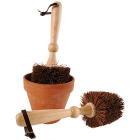 Flower pot brush, 9 cm diam