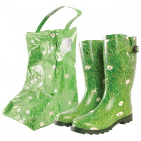 Size 36 - Rubber boot grass print with bag