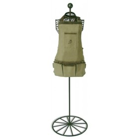 Short apron nubuck-cotton - Olive leaf