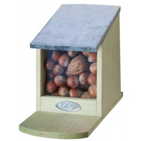 Squirrel feeder zinc roof
