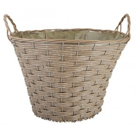Artificial large round basket