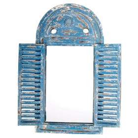 Mirror Louvre distressed blue