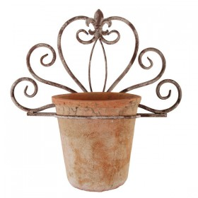 Wall planter holder - Aged Metal