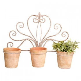 Tripple wall planter holder - Aged Metal