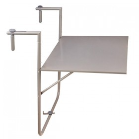 Foldable balcony table grey