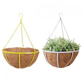 Hanging basket 35 cm grey/green