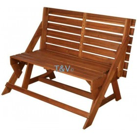Convertible bench/picnic table