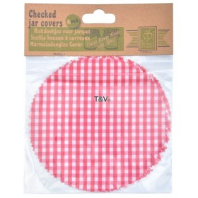 6 pcs checkered jar covers