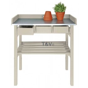 Garden work bench white