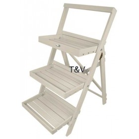 Stepped plant stand white