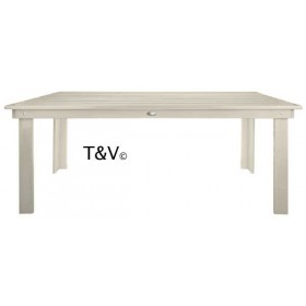 Rectangular table white