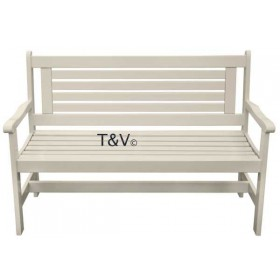 High back bench white