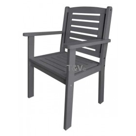Chair with arms grey