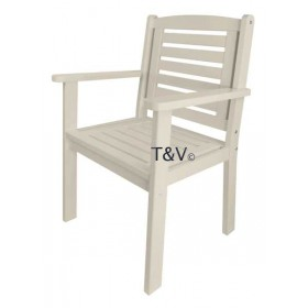 Chair with arms white