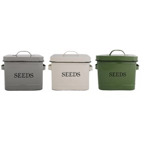 Seed bin assorted colors