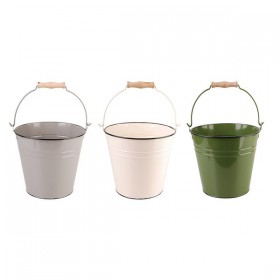 Metal bucket small choose your color