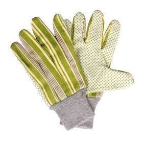 Garden gloves with striped print